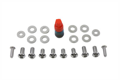 Chrome Headlamp Cowl Screw Kit for 1960-1964 Harley FL