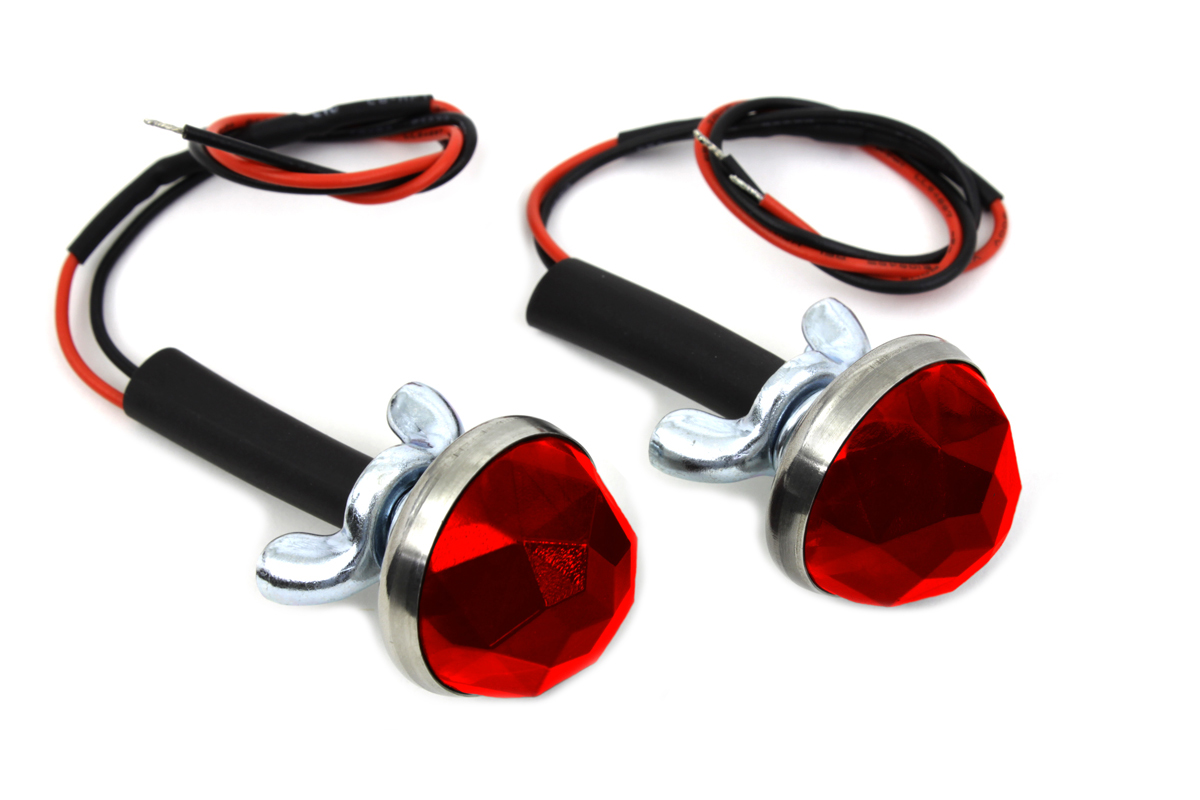 "Red LED 1"" Reflector Set"