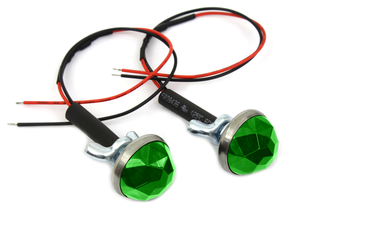 "Green LED 1"" Reflector Set"