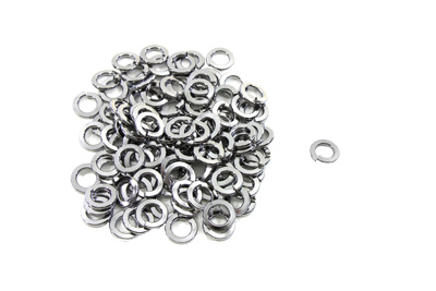 Chrome Lock Washer #8 Inner Diameter - 100 Pack
