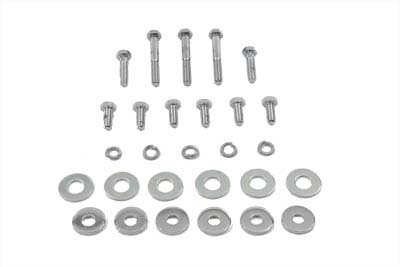 Chrome Gas Tank Bolt Kit for 1984-1990 FXST & FLST Big Twin