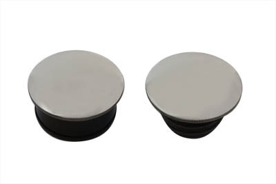 Low Profile Chrome Gas Caps Set for 1996-up Harley & Customs