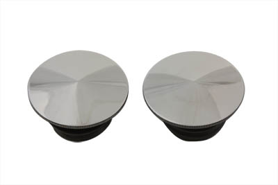 Polished Stainless Steel Gas Caps Set for 1996-1999 Softails