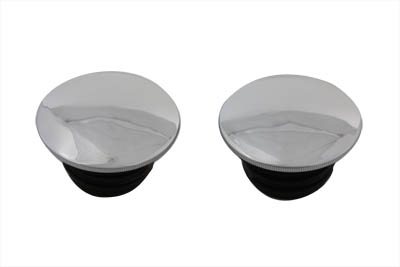 Chrome Low Profile Gas Cap Set for 1983-1995 Harley & Customs
