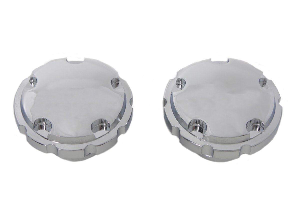 Chrome Techno Style Vented and Non-Vented Gas Cap Set