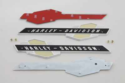 Gas Tank Emblems with Black/Silver Lettering for FL 1963-1965