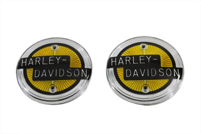 OE H-D Gold Gas Tank Emblem Set for 1958 Harley & Customs