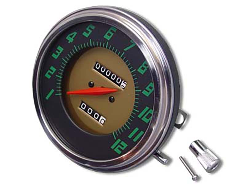 Speedometer W/ 2:1 Ratio Gold Background for Harley FL 1948-1961