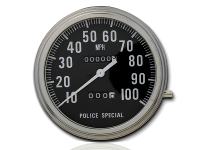 Police Special Speedometer w/ 1:1 Ratio for 1962-1983 Big Twins