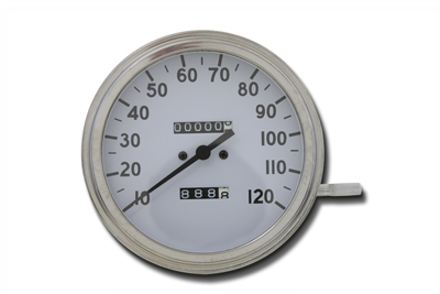 Speedometer w/ 1:1 Ratio White Background for 1962-83 Big Twins