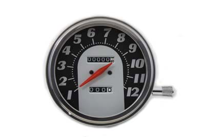 Tombstone Style Speedometer w/ 1:1 Ratio for 1962-83 Big Twins