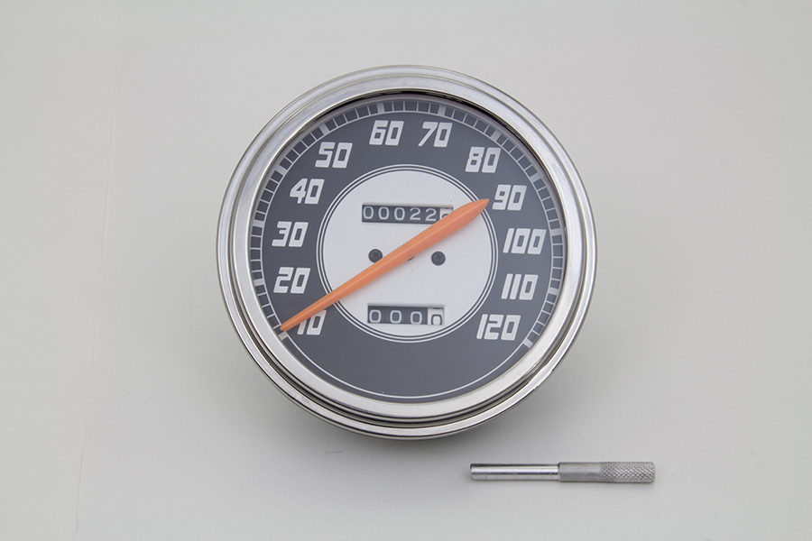 Speedometer 1:1 Ratio Orange Needle for Harley 1962-83 Big Twins
