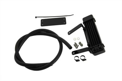 Jagg Black Oil Cooler for Harley FXST 2000-UP Softail Standard