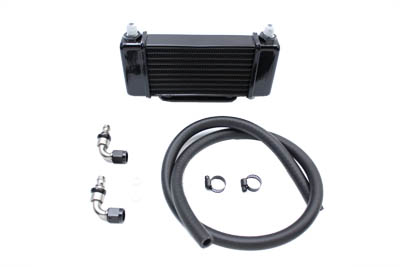 Jagg Black Oil Cooler for FLT 2009-UP Harley Big Twin Tour Glide