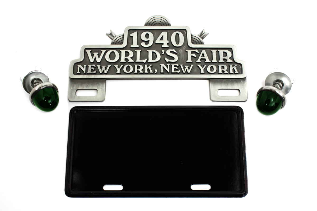 World's Fair License Plate Topper Kit with Green Reflectors