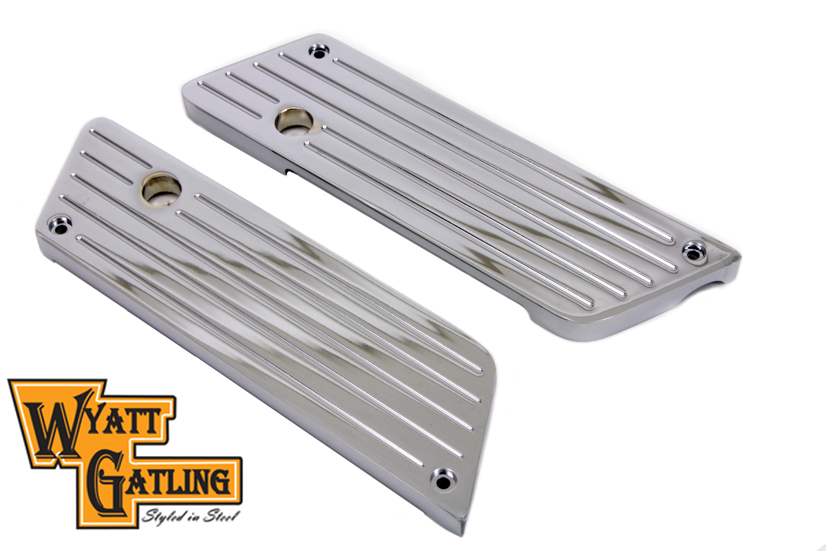 FLT 1993-UP Chrome Ball Milled Saddlebag Latch Set