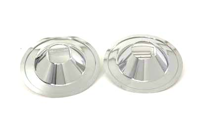Chrome 16 in. Rear Wheel Cover Set Cast for FXST 1986-99 Harley