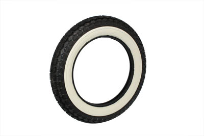 Replica Beck 4.50 x 18 Front/Rear Wide White Wall Tire for Harley