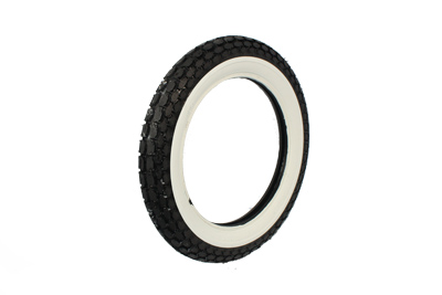 Replica Beck 4.00 x 18 Front/Rear Wide Whitewall Tire for Harley