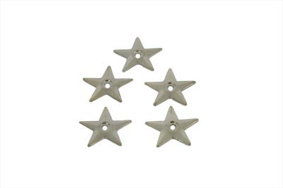 Chrome Saddlebag Star - 5 Pack