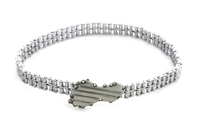 "38"" Chain Belt with Panhead Timing Cover Buckle"