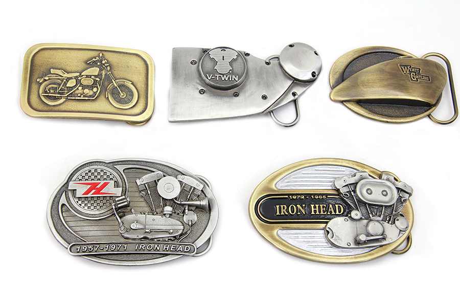 V-Twin Ironhead Series Belt Buckle Set
