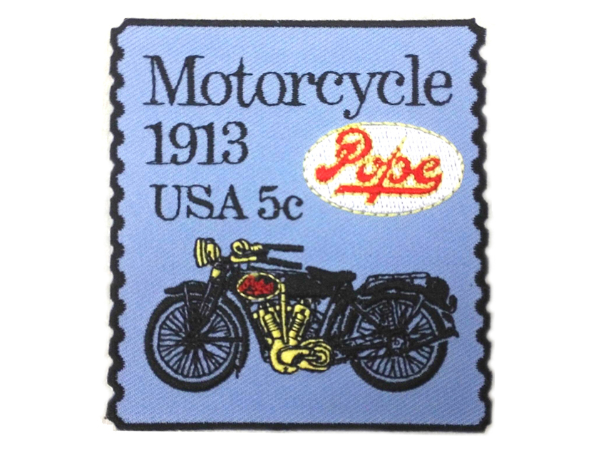 1913 Motorcycle Stamp Patches