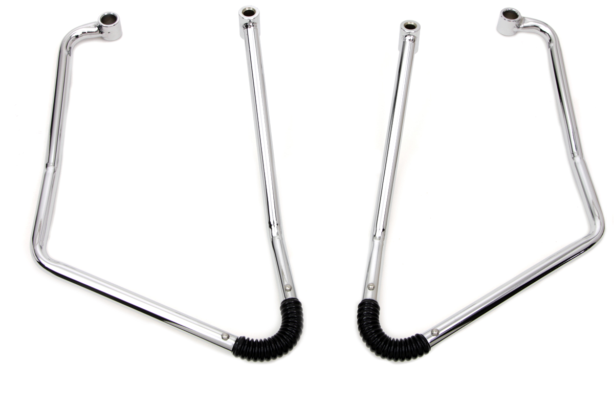 Chrome Adjustable Saddlebag Support Kit