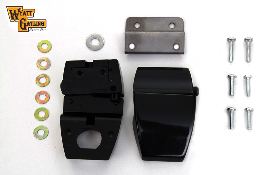 FLT 2006-2013 Wyatt Gatling Black Touring Pack Luggage Latch Kit