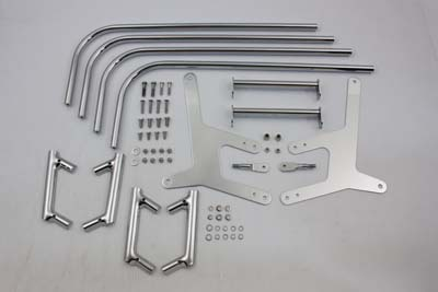 Chrome FL & FLH 1968-1977 Saddlebag Guard Kit
