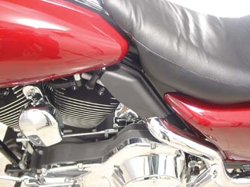 Black Mid Frame Cover Air Deflector Kit for FLT 2001-07 Harley