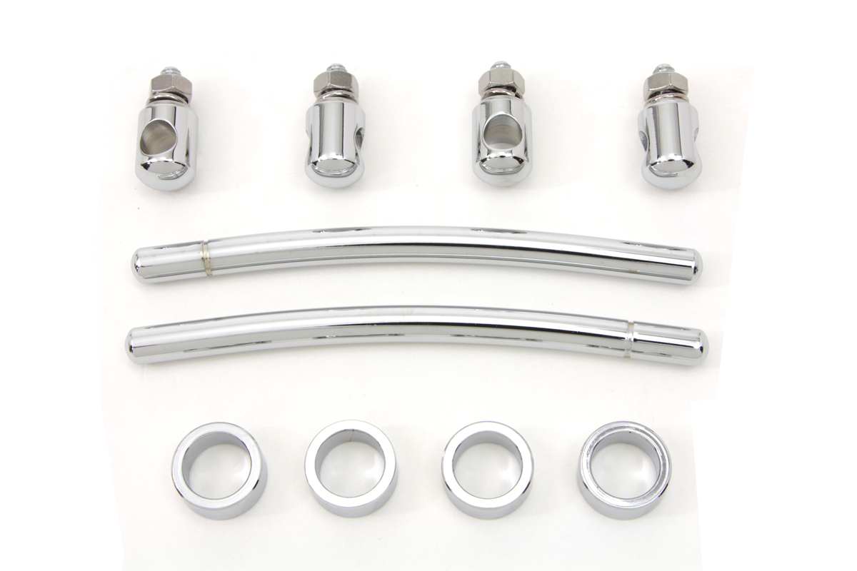 Chrome FL 1949-UP Front Fender Trim Rail Kit