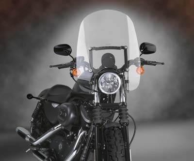 Spartan Quick Release Clear Windshield for XL 1996-2010 Harley