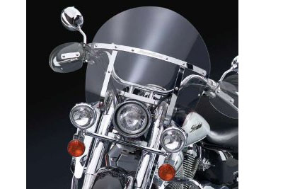 Chopped Clear Switchblade Removable Windshield Harley Big Twin