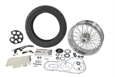 200 Series Rear Tire Wheel Kit for 1987-99 Harley FXST Softail