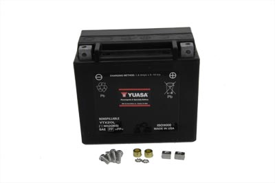 Yuasa 12 Volt Battery for 1997-up Harley Big Twin & XL Sportster