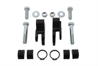 Black 1 in. Rear Shock Lowering Kit for FXDG 2000-05 Harley DYNA