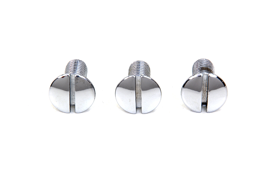 Chrome Left Side Oval Head Screws for 1936-1951 Big Twins